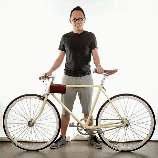 Thomas Yang on Bike