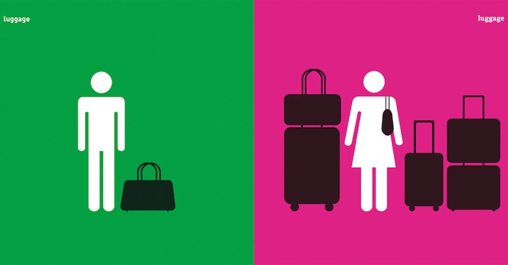 シンプル&一目瞭然!デザイナーが手がけた「男女の違い」が興味深い