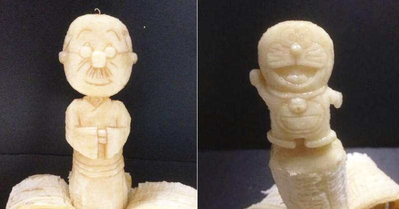 ジブリにサザエさんも!夜店にあったら絶対買っちゃう「バナナ彫刻」