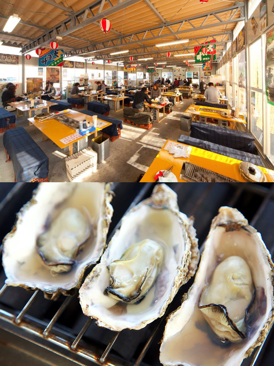 広島 牡蠣小屋