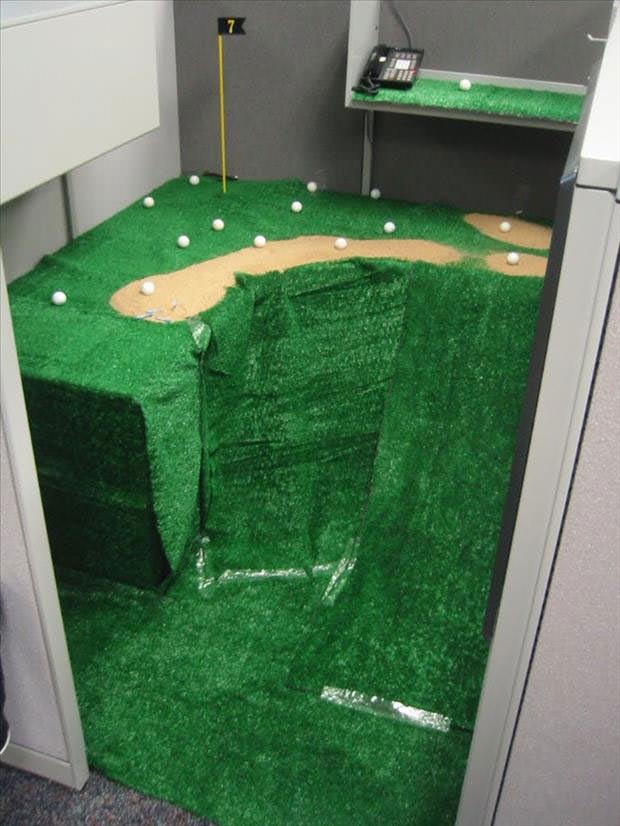 office-prank-golf