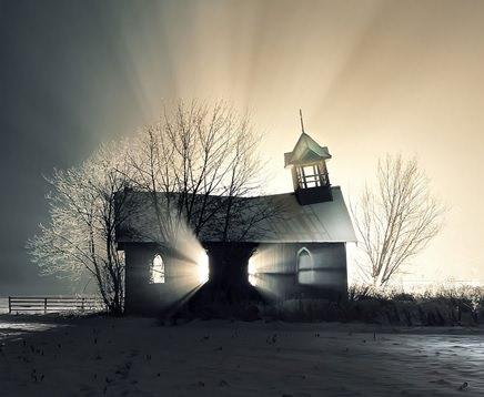 カナダの廃墟になった教会