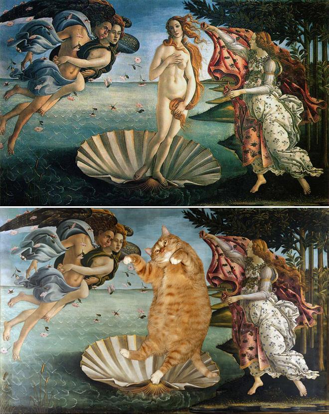 ヴィーナスの誕生とネコ