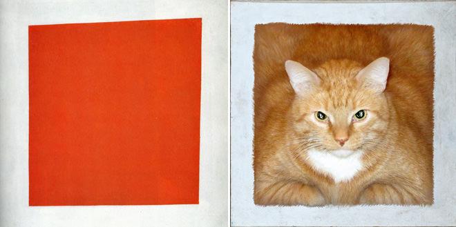 赤の広場とネコ