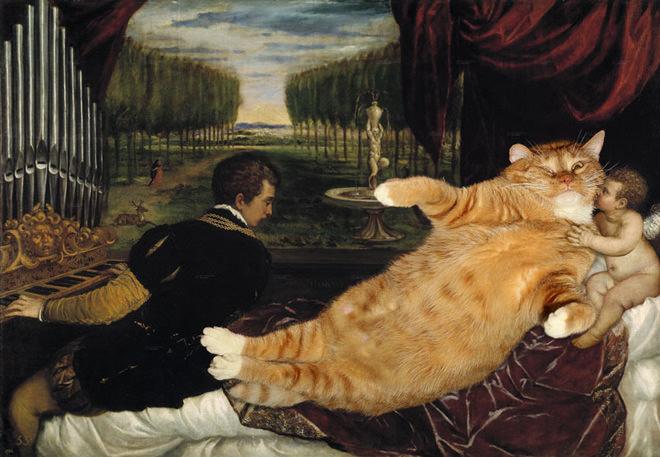 ヴィーナスとキューピッドとオルガン弾きとネコ