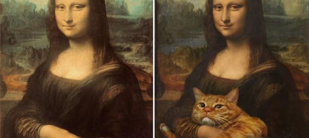 名画に猫を足すだけで不思議とホンワカする事が判明→画像で検証