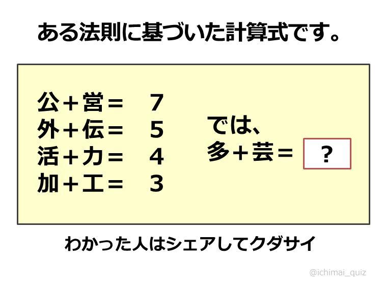 ... 解けて大人に解けない問題5選 : 漢字クイズ 問題 : クイズ