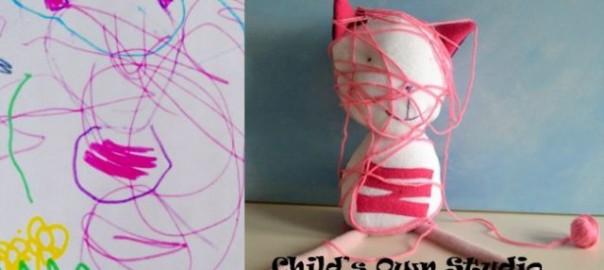 【想像を現実に】子供の落書きを本気で人形にしてみた30選