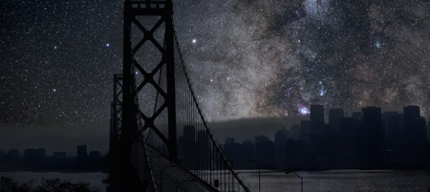 灯りを無くした夜。星空に浮かぶ都市画像9選