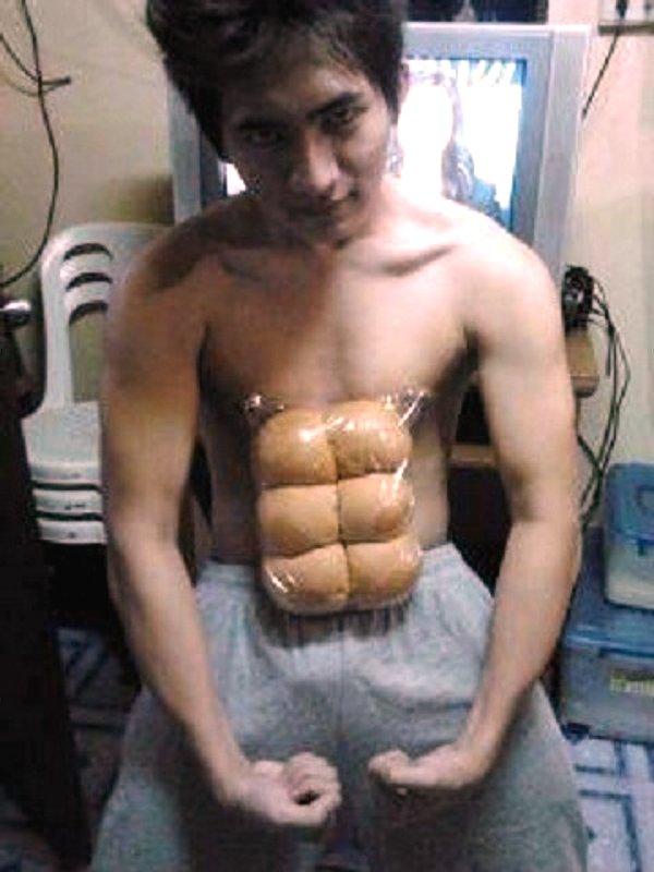 funny-fake-six-pack-hack-dinner-rolls-bagles-bread-plastic-bag