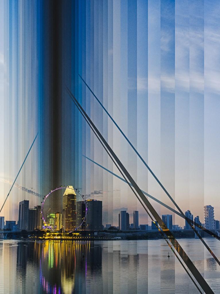 Singapore Skyline Sunset, 2013