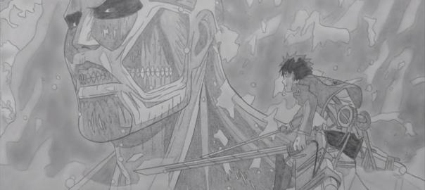 【進撃の巨人】製作期間8ヶ月、シャーペンだけで描いた究極のパラパラ漫画