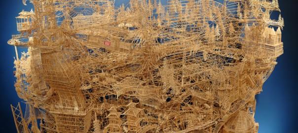 【制作期間まさかの35年】10万本以上の爪楊枝で作った精密すぎるお城に心が震える!