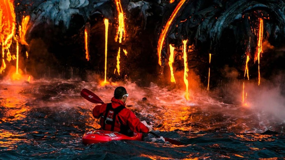 lava kayaking