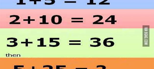 1+5=12のとき5+25は?92%が不正解の問題、あなたは解けますか?