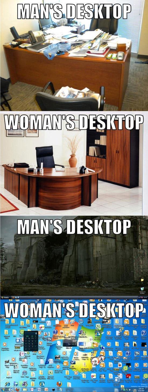男女の違い、整理整頓