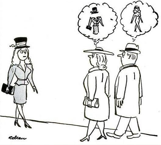 男女の違い、目線