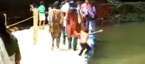 子供を助けるために川に飛び込んだ男性の結末が切ない(21秒)