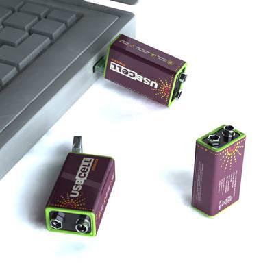 USBポートで充電できる乾電池