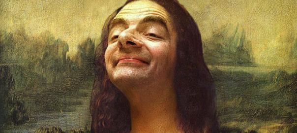 有名絵画の顔をMr. ビーンにしたらなんか面白かった