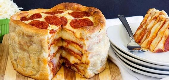 【カロリーの化け物】おいしいピザケーキの作り方♪