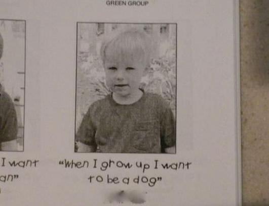 将来の夢は犬になることです。