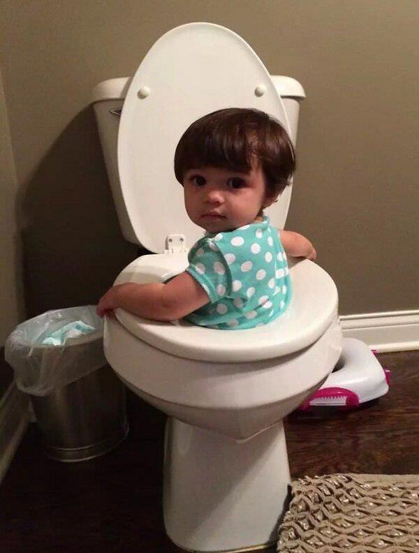 子供がトイレに落ちた