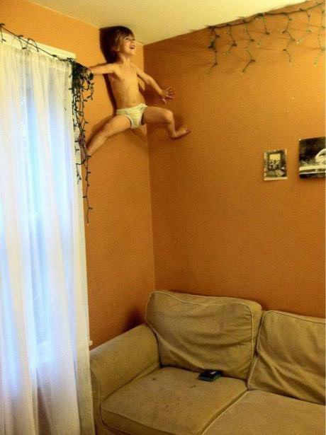 部屋の角を上る方法