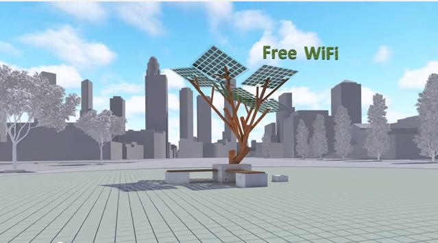 solar powerd tree1
