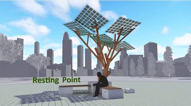 solar powerd tree2
