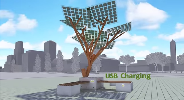 solar powerd tree3
