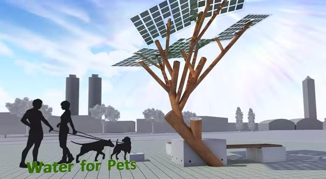 solar powerd tree5