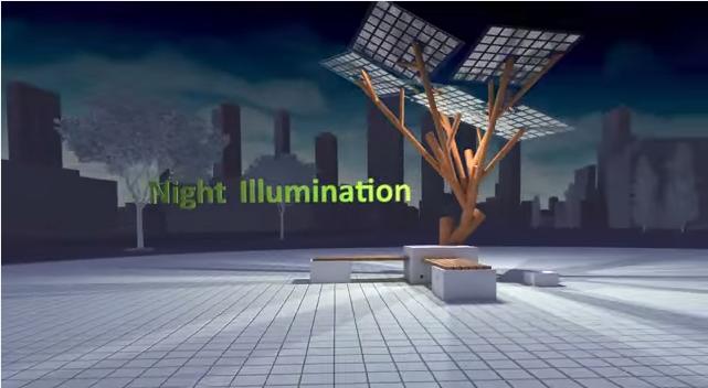 solar powerd tree7