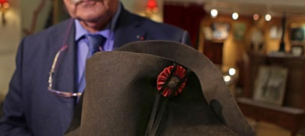 フランス皇帝「ナポレオン」の帽子がパリのオークションに出品されます