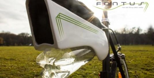 自転車に乗るだけで、空気中から水を生み出せる装置『Fontus』が発表されました。