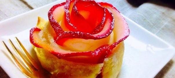 美しすぎて食べられない!薔薇の形のアップルパイ