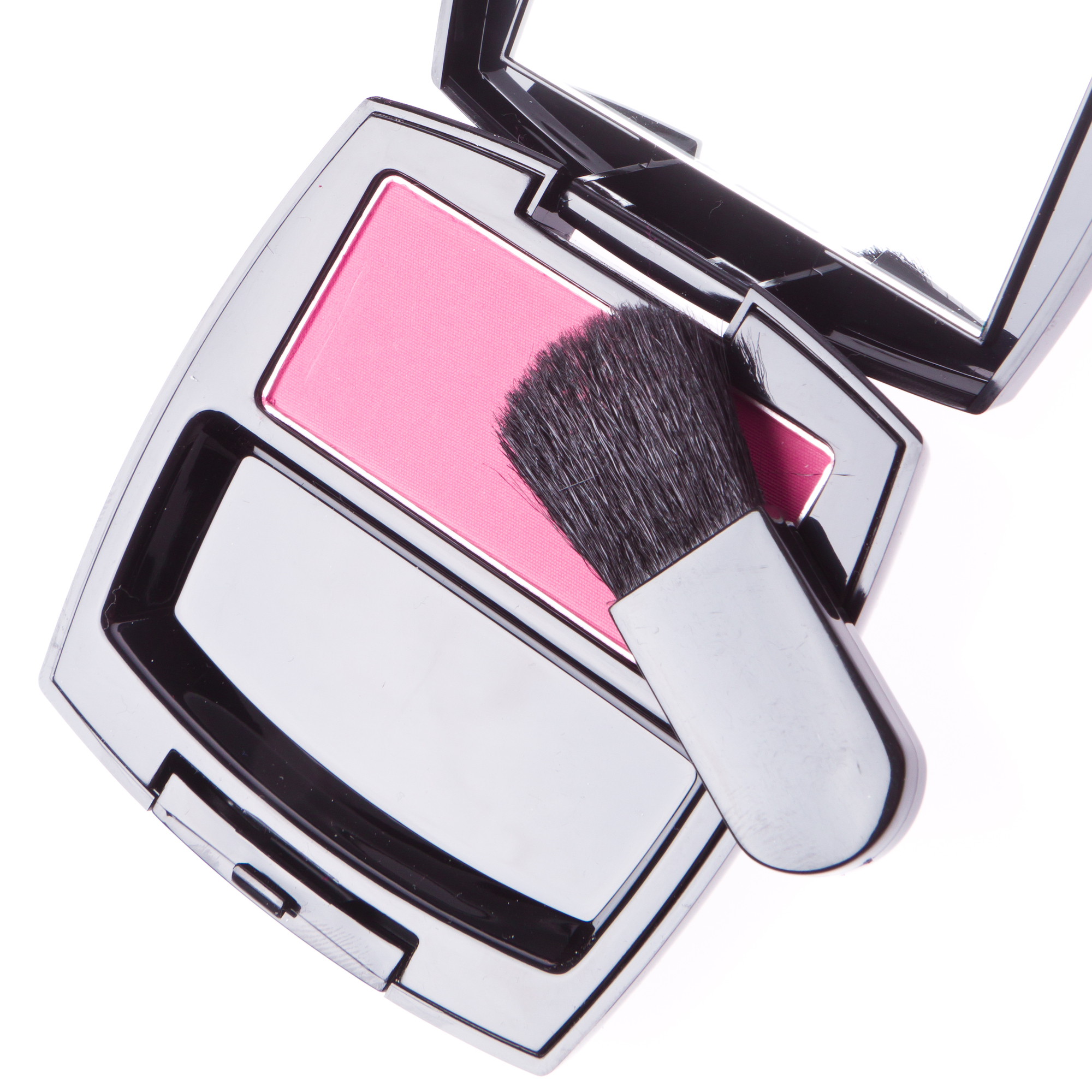 compact blush with brush