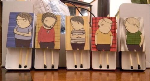 寒い冬にぴったり!ちょっぴり心温まるマッチ箱アート