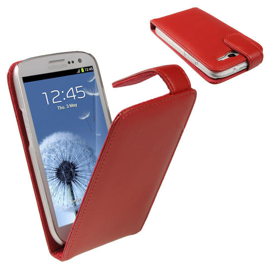 lrgscaleU1773 Samsung Galaxy S3 Red Leather Case Combo