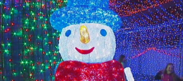 超キラキラ!120万個のクリスマスライトを飾りギネス記録達成