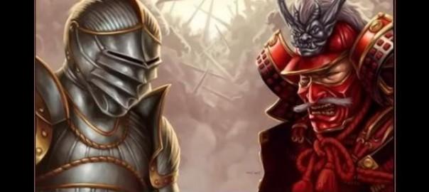 「中世の騎士と日本の侍はどっちが強いと思う?」という論争が白熱しています