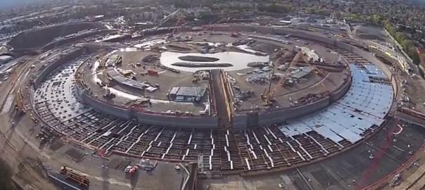 【巨大な円盤】米アップル新本社社屋「Apple Campus 2」の最新空撮映像がすごい!