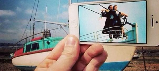 映画の世界が現実に!iPhone画像とリアルの世界をコラボさせた写真がすごい!