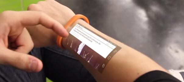 自分の腕にスクリーンが!次世代のウェアラブル端末「シクレ・ブレスレット」が開発中