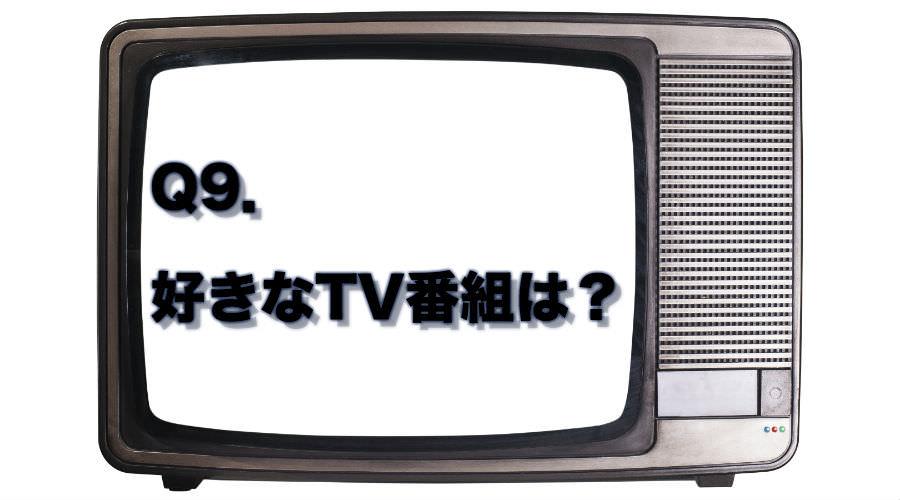 好きなTV番組は
