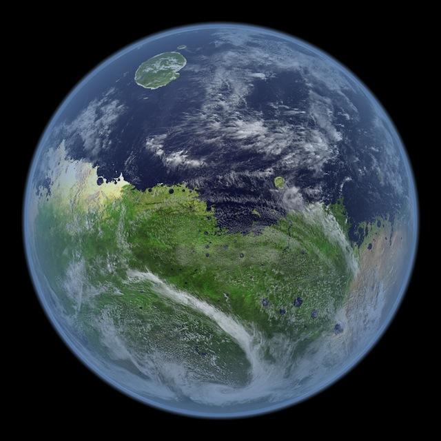 水が存在する火星