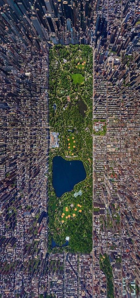 上から見たセントラルパーク