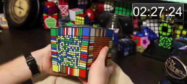 17×17×17の世界一難解なルービックキューブを7時間で解いてみた
