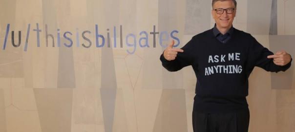 「ビル・ゲイツだけど、質問ある?」あの億万長者がネット掲示板に登場