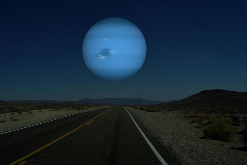 地球から見た海王星